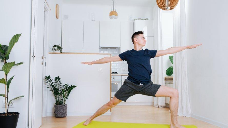 Man warrior posture video